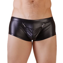 Mens Wetlook Pants with Attachable Pouch