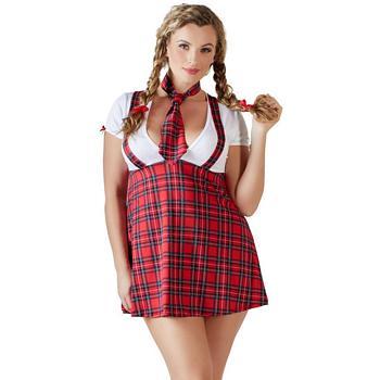 Sexy Schulmädchen Kostüm in Plus Size