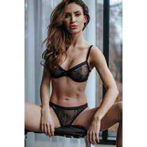 PetiteNoir Lace Bra and String