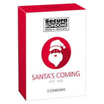 Santa is Coming - Red Xmas Condom