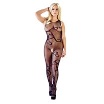 Net Catsuit with Tendril Design