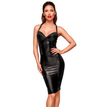 Noir Wetlook Dress with