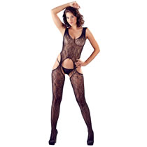 Lace Catsuit with Suspender Look