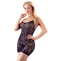 Net Dress with Wild Cat Design