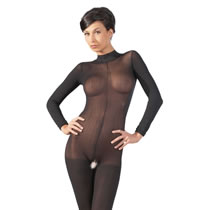 Long-sleeved Catsuit in Black