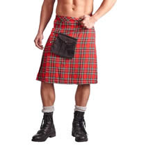Highlander Kilt in red and white