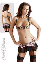 Lea Shelf Bra and skirt with suspenders