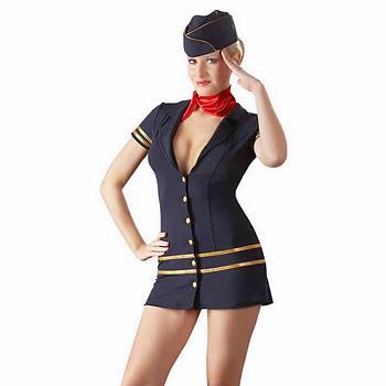 Fræk Stewardesse Kostume