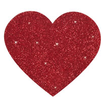 Titty Sticker Hjerte - Brystvorte klistermærke