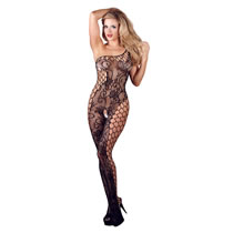 Blomstret Net Bodystocking