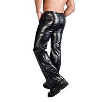 Leather-Look Pants for Him