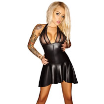 Noir Exclusive Wetlook Minikleid
