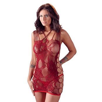 Netzkleid in Rot