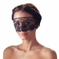 Lace Eye Mask in Black