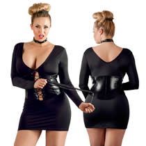 Plus Size Domina Mini Dress with Lacing